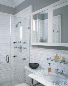 Bathroom ideas on pinterest mirror ideas small for Small bathroom design nyc