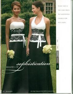 Wedding, Bridesmaids, Black    Change the white to a wine/blood red and don't do it in strapless and we may just have something here - VR