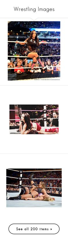 """""""Wrestling Images"""" by wwetnagirl ❤ liked on Polyvore featuring wwe, accessories, aj lee, manip, home, home decor, frames, wwe couples, catch and wrestling"""