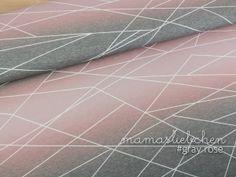0,5 m x 1,5 m Mamasliebchen Jersey-Stoff Meterware Linien-Muster Dunkel-Rosa f/ür Damen M/ädchen Kinder verlaufs-shapelines #Blush-Wine