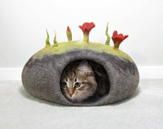 Looking for your next project? You're going to love Felted Cat Caves by designer alosha.