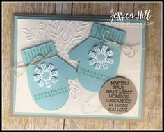 stampin up, smitten mittens, many mittens framelits, pool party, early espresso, whisper white, very vanilla, linen thread, winter wonder textured impressions embossing folder, silver thread, holidays, christmas, crumb cake, online class, kit