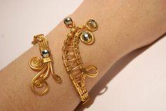 gold cuff bracelet wire wrapped jewelry handmade gold bracelet wire wrap bracelet