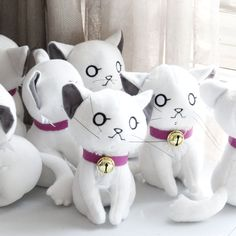 動漫COS 玩偶 K 伊佐那社 寵物 白貓 NEKO公仔 K 貓 毛絨玩具