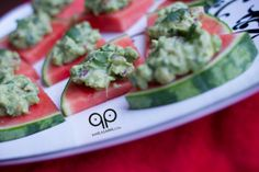 Guacamole Watermelon Bites and a Paleo Tapas Menu #Primal #Vegetarian #Vegan #Raw