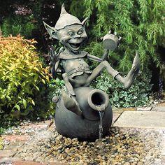 Bronze Faeries/ Elves by David Goode- this will be in my Faerie Garden someday! Elves And Fairies, Palm Beach Gardens, Garden Statues, Garden Ornaments, Dream Garden, Yard Art, Faeries, Sculpture Art, Garden Sculptures