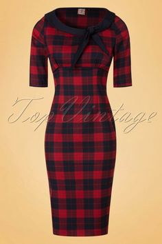 Dancing Days by Banned Red Checked Pencil Dress 100 27 19724 20161110 0004W