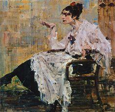 Женщина с сигаретой (1917). Николай Фешин