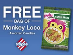 FREE Bag of Monkey Loco Candies at Stripes Stores on http://www.icravefreebies.com/
