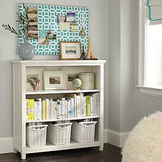 Beadboard 3-shelf Bookcase
