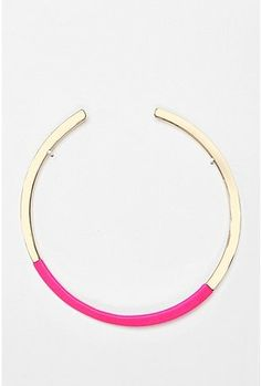 Urban Outfitters Neon Lights Collar Necklace $28 #fashion #accessories #jewelry #necklace #pink #neon #bright #fluro #metal #style #stylish #modern #trend #spring #chic #gift