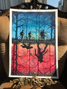 Stranger Things Demogorgon, Stranger Things Upside Down, Hobby Lobby Wall Art, Movie Poster Art, Watercolour Painting, Home Deco, Cute Art, Fan Art, Art Drawings