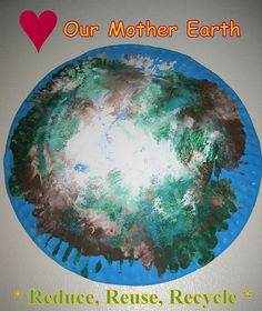 Paper plate Earth Day craft