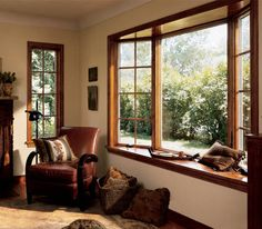 bay window with wood, seat