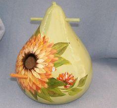 Bird House Gourd Mint Green Dahlia by HouseOfGourds on Etsy, $25.00