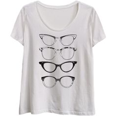 Geek Garb Plus White Stacked Glasses Scoop Neck Tee (£14) ❤ liked on Polyvore featuring plus size womens fashion, plus size clothing, plus size tops, plus size t-shirts, plus size, scoop neck tee, white t shirt, scoop-neck tees and plus size t shirts Clothing, Shoes & Jewelry - Women - Clothing - T-shirt women plus size - http://amzn.to/2kJOW9m