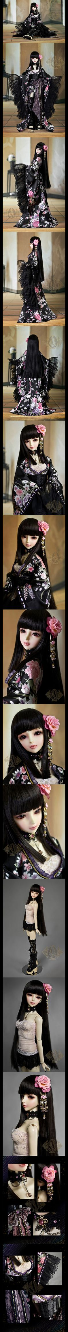 ドール服 SDサイズ人形用 女用着物紫桜 CL1011190_SDサイズ人形用_SDサイズ人形用_人形衣装_球体関節人形、BJD、ドール服、人形ウィッグ、Wig、着せ替え人形、ドール靴、ボディなどを販売するの総合人形通販店
