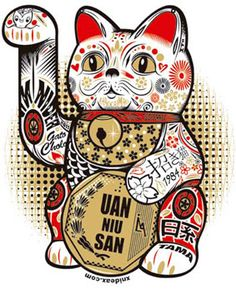 Lucky cat witn a touch of peruvian way of life