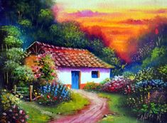 Country Cottage at Sunset - Other Wallpaper ID 1844700 - Desktop Nexus Abstract