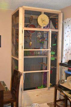 Sugar glider custom cage