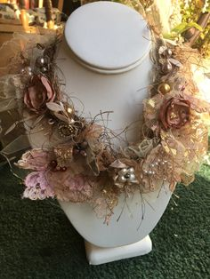A personal favorite from my Etsy shop https://www.etsy.com/listing/491572414/romantic-princess-bib-necklace