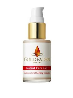 Goldfaden Instant Face Lift by Goldfaden. $75.00. This product tightens, smoothes and lifts your skin within minutes, the perfect quick-fix treatment.. This product meets our natural beauty standards with a high concentration of quality natural botanicals while keeping harsh chemicals to a minimum.                        Instant face lift is like laser surgery in a bottle. This unique complex tightens, smoothes and lifts skin for up to eight hours with instant, extra...