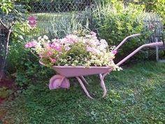 Garden Decor Dishfunctional Designs: The Upcycled Garden: Pink For Your Boho Cottage Garden Garden Yard Ideas, Garden Projects, Garden Art, Garden Design, Nail Garden, Herb Garden, Bird Bath Garden, Pink Garden, Garden Cottage