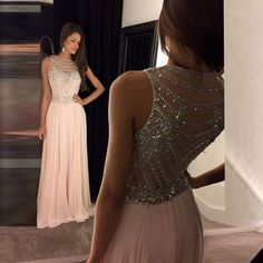 Find More Evening Dresses Information about Gorgeous Evening Dresses Long Pink Evening Dress Crystal Beaded Robe De Soiree Formal Gowns A Line Summer Evening Gown Party,High Quality dress bridal gown,China gown store Suppliers, Cheap gown pink from Charming Dress Factory on Aliexpress.com
