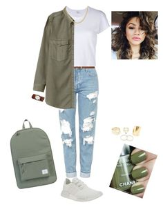 """""""-Adidas NMD-"""" by m-franklin on Polyvore featuring Topshop, H&M, RE/DONE, adidas, Coleman, Nixon, Herschel Supply Co., white, Trainers and nmd"""