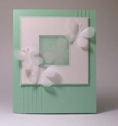 hand made cards with butterflies - Google Search