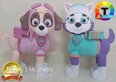 Patrulha canina com molde para imprimir Felt Kids, Sewing Stuffed Animals, Baby Disney, Unicorn Birthday, Paw Patrol, T 4, Paper Dolls, Smurfs, Projects To Try