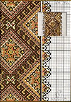 Towel Embroidery, Folk Embroidery, Embroidery Patterns Free, Cross Stitch Embroidery, Embroidery Designs, Cross Stitch Charts, Cross Stitch Designs, Cross Stitch Patterns, Bead Loom Patterns