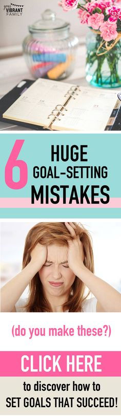 Frustrated with goal setting because you can't reach your goals? You may be making these 6 goal setting mistakes. I want to share with you about how to effectively set goals and avoid these goal setting mistakes so that you too can make positive, lasting change in your life!