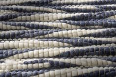 Sydney Cream Blue Rug (texture close up), an ultra luxurious New Zealand wool hand-woven rug with a wavy effect design & pebble like texture in shades of blue & cream (hand-woven in Morocco, available in 11 sizes & numerous colour combinations) http://www.therugswarehouse.co.uk/modern-rugs3/sydney-rugs/sydney-cream-blue-rug.html #rugs #luxury #NewZealandWool