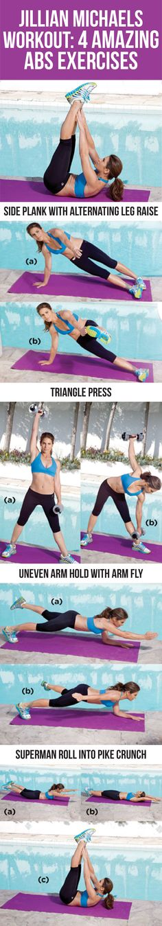 Jillian Michaels #Workout! Try out these 4 #exercises for some amazing abs!
