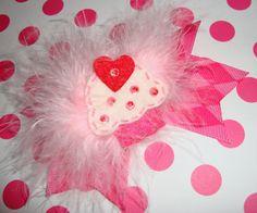Cupcake Marabou Bow