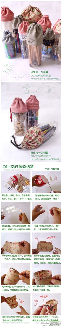 DIY Handmade Bags from repurposed plastic bottles. I didn't see any translations but it easy enough to figure it out by looking at the pictures. Recycled Crafts, Diy And Crafts, Crafts For Kids, Plastic Bottle Crafts, Plastic Bottles, Soda Bottles, Water Bottles, Plastic Craft, Plastic Containers