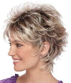 Image result for short feathered hair cuts for women with thick hair