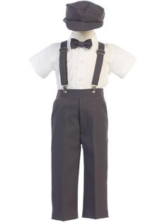 59ba9e7ec2a DapperLads Lito Baby Boys  Charcoal Ring Bearer Pants Set Infant and Toddler