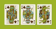 """Animal Kingdom"" playing card illustrations by Jeffrey Bucholtz"