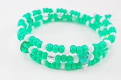 Mint Wrap Bracelets  Green Girl's Memory Wire by EverythingBeaded2, $14.00