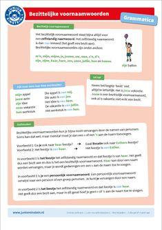 Learn Dutch, Home Activities, Play To Learn, School Hacks, Child Development, Grammar, Einstein, Language, Classroom