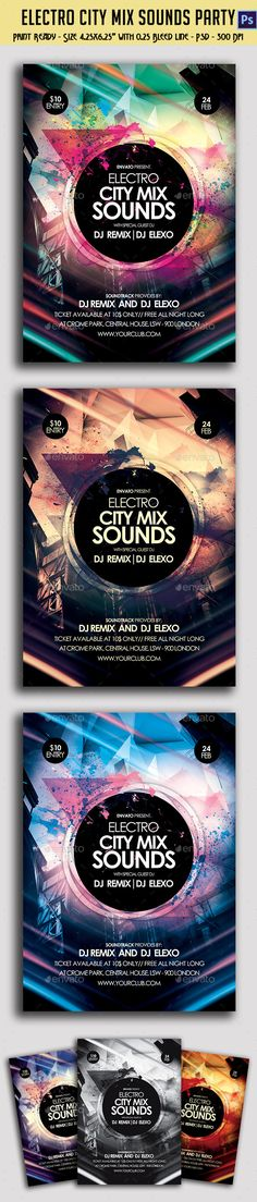 Electronic City Mix Sounds Party Flyer (CS, 8.5x11.93, bright, city, club, colorful, design, electro, electronic, elements, energy, feel, feeling, flyer, hip, house, light, light effects, party, party flyer, poster, power, print, psd, sharp, shine, template, texture, theme, trance, trap)