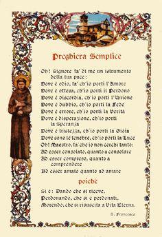 Preghiera Semplice di San Francesco d'Assisi