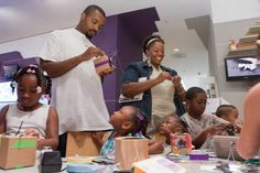 The Center for Creative Connections offers opportunities for families to make their own works of art.