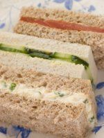 This way to mouthwateringly good tea sandwich recipes for your tea party. If you assume all tea sandwiches are tasteless bits of fluff, you have several savory surprises in store!