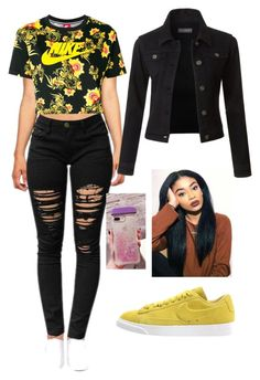 """‍♀️"" by endyalester on Polyvore featuring NIKE and LE3NO"
