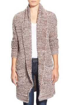 Hinge Marled Long Open Front Cardigan available at #Nordstrom