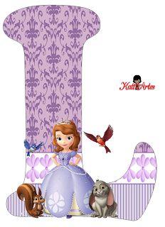 Alfabeto de Princesa Sofía. Princess Sofia Birthday, Sofia The First Birthday Party, Birthday Party Themes, Mickey Mouse Parties, Mickey Mouse Birthday, Tangled Birthday, Tangled Party, Tinkerbell Party, Toy Story Party