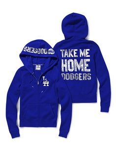 Los Angeles Dodgers Bling Zip Hoodie - Victoria's Secret Pink® - Victoria's Secret